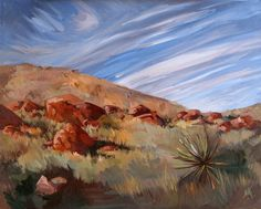 Windy Skies, oil painting by Erin Hanson