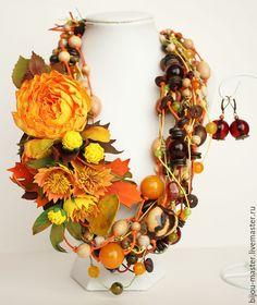 Купить комплект В СКАЗОЧНОМ ЛЕСУ - рыжий, оранжевый, зеленый, коричневый, желтый, осень
