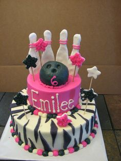 Girl's Bowling Cake