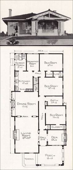 c. 1918 Stillwell House Plans - California Representative Homes - R-825
