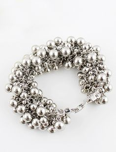 Brazalete aplique perlas plateado EUR€5.89