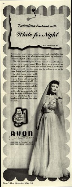 Valentina enchants with White For Night Avon 1941