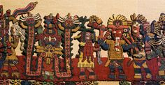 The Paracas textiles were found at a necropolis in Peru in the The necropolis held 420 bodies who had been mummified and wrapped in embroidered textiles in BCE Ancient Peruvian, Peruvian Art, Peruvian Textiles, Weaving Designs, Statues, Mesoamerican, Inca, Arte Popular, Aboriginal Art