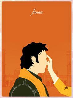 Fanaa ~ Minimal Movie Poster by Pramod Mahanand Source by nazamji. Iconic Movie Posters, Minimal Movie Posters, Minimal Poster, Movie Poster Art, Iconic Movies, Bollywood Posters, Bollywood Quotes, La Reverie, Drawings Pinterest
