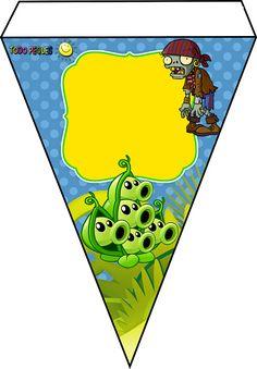 Decoración de Plantas Vs Zoombies banderines para descargar gratis Zombie Birthday Parties, Leo Birthday, Zombie Party, 14th Birthday, Plants Vs Zombies, Zombies Vs, Plantas Versus Zombies, Printable Birthday Banner, Plant Zombie
