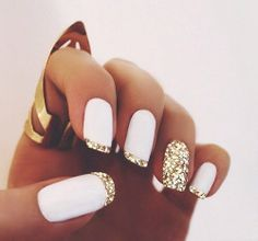 Actually these nails are pretty easy! All u need to do issue some masking tape for those fine lines!