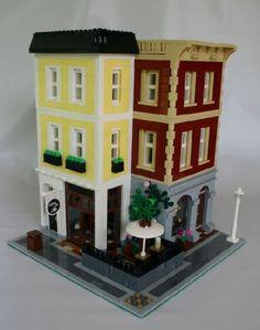 Cobblestone Corner: A LEGO® creation by MoreCity Bricks : MOCpages.com