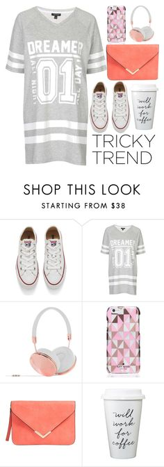 """""""Tricky Trend: Daytime Pajamas Contest"""" by jackiemchevy ❤ liked on Polyvore featuring Converse, Topshop, Frends, Kate Spade and TrickyTrend"""