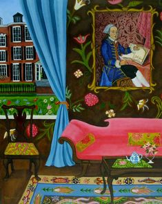 "Catherine Nolin Art Studio ""Beacon Hill"" Acrylics, 2010."