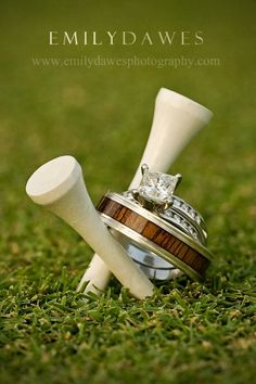 wedding rings. golf.
