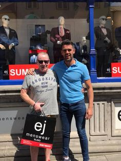 A Prize Worth Travelling 170KM For!  Pictured is David Colburn who travelled all the way from his hometown of Dundalk all the way to Sligo to collect his Father's Day, EJ Competition Prize of a full 6th Sense outfit including denims, shirt & jumper!! Rumour has it that the jeans are so comfortable that he hasn't taken them off since! Congrats again David!! Rumor Has It, Competition Time, Jumper Shirt, Men's Fashion Brands, Superdry, Ted Baker, Tommy Hilfiger, Travelling, Father