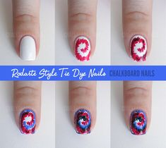 Tye Dye Nails nails nail pretty nails tye dye nail ideas nail designs nail art