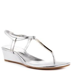 93454a7e43de BCBGeneration Jiffie Y Silver New Met P Heels Silver Wedge Sandals