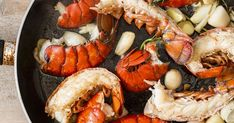 Six Maine Lobster Tails with Butter by Hancock Gourmet Lobster Co. - Goldbelly Lobster Mac And Cheese, Crab And Lobster, How To Cook Lobster, Lobster Tails, Best Lobster Tail Recipe, Lobster Recipes, Lemon Herb, Herb Butter, Crab Meat