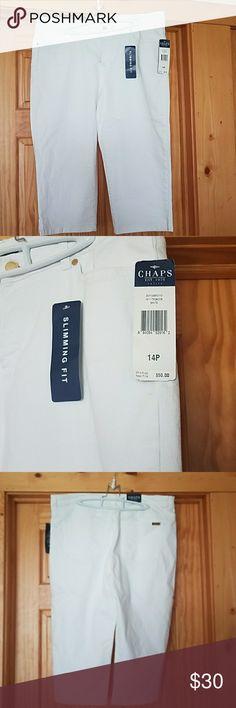 NWT Chaps Capri pants  These gorgeous white Capri jeans are new, brand New! Chaps Pants Capris
