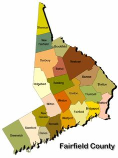 Fairfield County Connecticut Map Includes Greenwich Stamford - Usa connecticut map