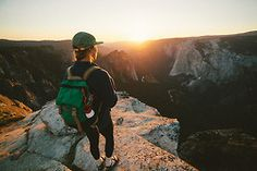 Incredible photo of our Rover Pack taking in the Yosemite Sunset  | Topo Designs Rover Packjoelbearstudios.