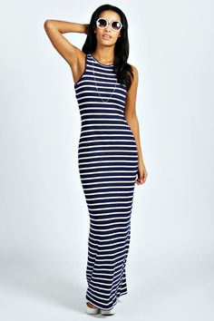 Striped dress on a casual day