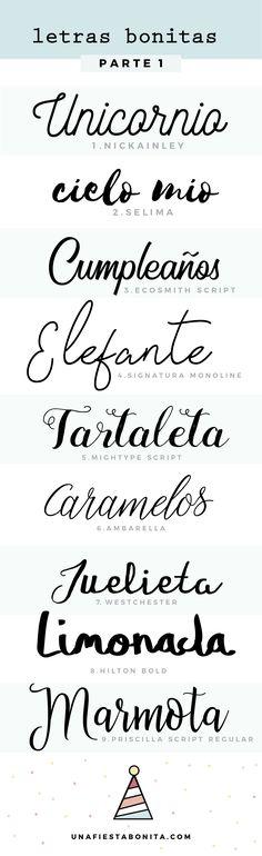 Tipos de letras bonitas para escribir a mano abecedario buscar con google designs and art - Literas bonitas ...