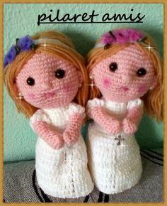 Hola amig@s!, ya veis, una muñeca de comunión, se acercan ya estas celebraciones,  en las que los niños se sienten tan felices recibiend...