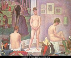 Georges Seurat The Models art painting for sale; Shop your favorite Georges Seurat The Models painting on canvas or frame at discount price. Georges Seurat, Paul Gauguin, Paul Signac, Puntillismo Seurat, Seurat Paintings, Impressionist Paintings, Oil Paintings, Watercolor Paintings, Henri Fantin Latour