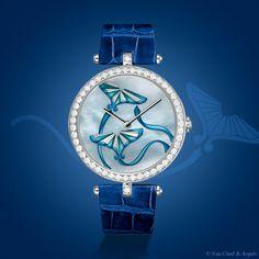 Van Cleef & Arpels Lady Arpels Cerf-Volant Indigo timepiece, Extraordinary Dials™ collection