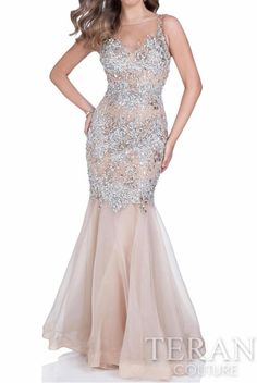 e054287da0c2 Terani Couture Crystal Embellished Beaded Evening Gown 1611P0705. Bride  DressesBlack Prom DressesHomecoming ...