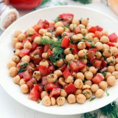 Incorporate more chickpeas into your diet with this tasty salad. Packed with fiber and protein.