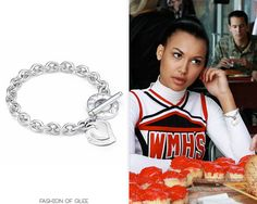 Tiffany & Co. Double Heart Tag Toggle Bracelet - No longer available Also worn in: 1x03 'Acafellas', 1x07 'Throwdown', 1x10 'Ballad', 1x12 'Mattress', 1x13 'Sectionals', 1x14 'Hell-O', 1x18 'Laryngitis', 1x22 'Journey' 2x01 'Audition', 2x04 'Duets', 2x07 'The Substitute', 2x08 'Furt', 2x10 'A Very Glee Christmas' 3x01 'The ...
