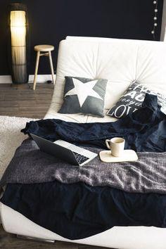 Zimowe lenistwo. Sypialnia z pomysłem.