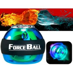 [USD8.25] [EUR7.40] [GBP5.99] Forceball SPT-ALC Exercise Wrist Force Ball with Blue LED Light for Fitness Ball