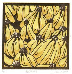 Bananas - Original Lino Print