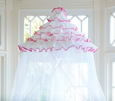 Pink Bali Ruffle Canopy | Pottery Barn Kids