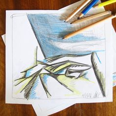 Mal wieder Kritzeln. Komposition sehr frei nach einem Bild das @blick7 vor einiger Zeit.geposted hatte. Da gefiel mir irgendwie besonders gut wie das (weiße) Tuch in Falten lag. #sketchbook #pencils #composition #kritzelnzwosechzehn