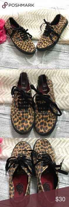 Vans Animal Print Sneakers Sz 6 Vans Animal Print Sneakers Sz 6  In excellent condition  No damage Vans Shoes Sneakers