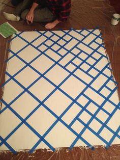 Geometric Art Diy Canvas Canvases New Ideas Diy Canvas Art, Diy Wall Art, Diy Art, Canvas Ideas, Geometric Painting, Geometric Art, Tape Painting, Painters Tape Art, Painting Inspiration