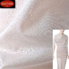 Szyfon jedwabny elegance White SILVER