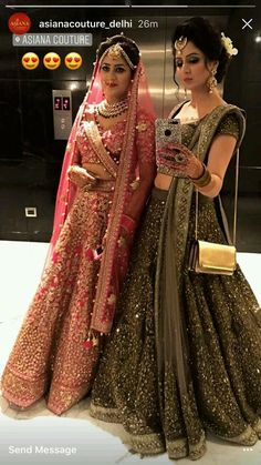 Indian Wedding Dresses for Bride's Sister intended for - Wedding Ideas MakeIt - Indian Wedding Dresses for Bride's Sister intended for – Wedding Ideas MakeIt - Indian Bridal Outfits, Indian Bridal Wear, Pakistani Bridal, Indian Dresses, Indian Wear, Bridal Dresses, Indian Lehenga, Green Lehenga, Lehenga Designs