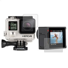 Go Pro Accessories Ultra Clear LCD Screen Protector   Housing Glass Lens Protector Film for GoPro HERO4 HERO 4 Sport Camera