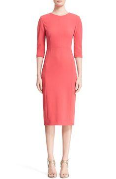 Narciso Rodriguez Pintuck Crepe Sheath Dress available at #Nordstrom