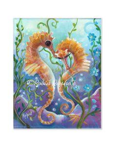 Pair of Seahorses Romantic