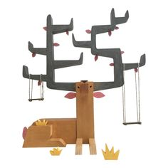 Autumn Stag designed by Gary Hamm, sold by Pobber Toys. A display for smaller vinyl and art figures.