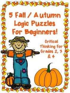 Fall / Autumn Themed Logic Puzzles for Critical Thinking! Team Activities, Enrichment Activities, Math Classroom, Classroom Activities, Classroom Ideas, Halloween Activities For Kids, Thanksgiving Activities, Holiday Activities, Thanksgiving Ideas