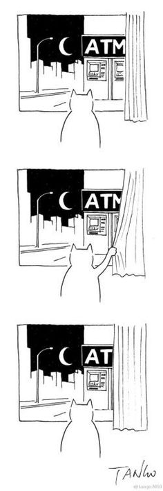 """atm the picture says """"cat"""""""