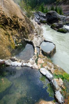 Keyhole Hot Springs northwest of Whistler, British Columbia, Canada