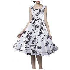 Women's Vintage Floral 1920s Rockabilly Swing Cocktail Party Dress ($38) ❤ liked on Polyvore featuring dresses, floral dresses, evening dresses, rockabilly dresses, vintage 1920s dresses and vintage floral dress