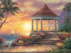 We just released our latest product, the Gazebo Painting, ...! What do you think of it? http://www.airstrikeinc.com/products/gazebo-painting-tropical-art-beach-artwork-painting-of-sailboat-beach-print-palm-tree-painting-ocean-art-sunset-art-hammock-by-chuck-pinson-3749?utm_campaign=social_autopilot&utm_source=pin&utm_medium=pin