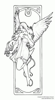 Enchanted Designs Fairy Mermaid Blog Free Coloring Pages By Selina Fenech