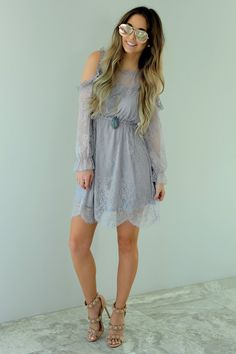 On The List Dress: Dusty Lavender