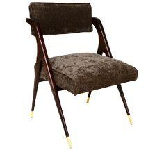 Vintage Mexican Modernist Sculptural Armchair Front